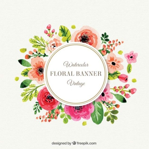 Cute flowers frame in vintage style Free Vector