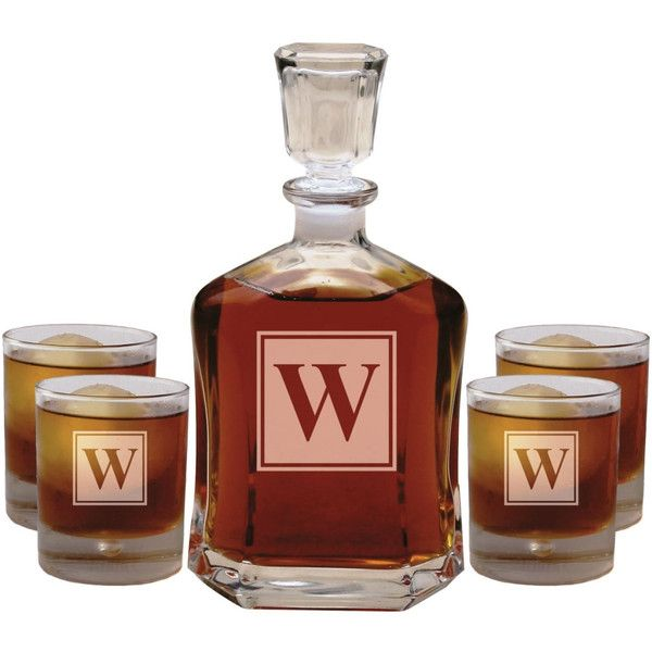 Unique Wedding Gifts Under USD50 : Wedding Gifts for Couple Personalized Whiskey Decanter Set With 4 ...