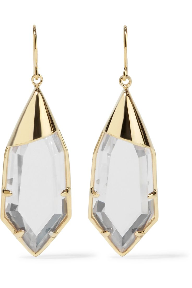Shop on-sale Noir Jewelry White Radiance gold-tone crystal earrings. Browse other discount designer Jewelry & more on The Most Fashionable Fashion Outlet, THE OUTNET.COM