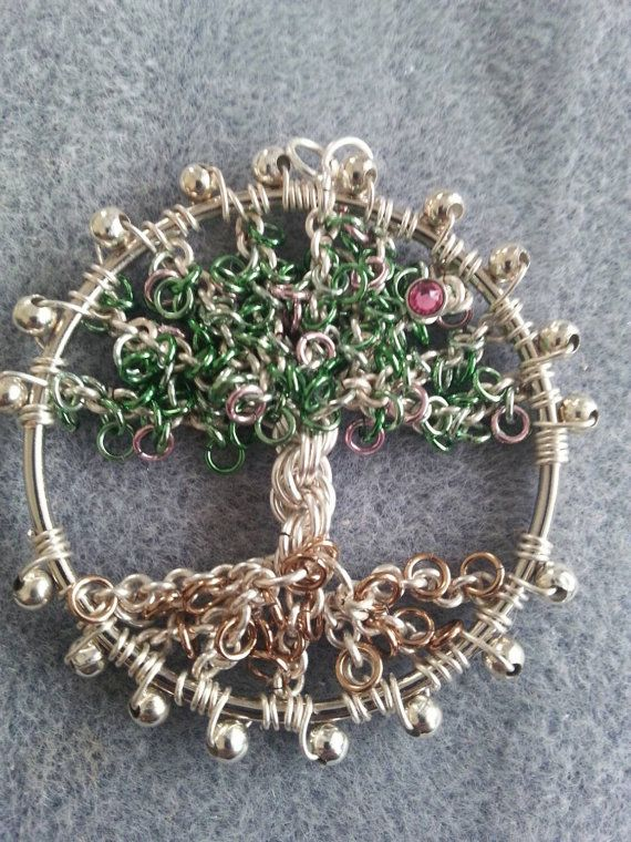 Chainmaille Blossom Tree Kit by TheBeadHutEssex on Etsy