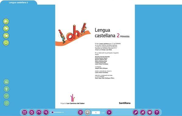 """Libromedia Santillana Lengua 2º de Primaria """"Los caminos del saber""""   Jugar y aprender"""