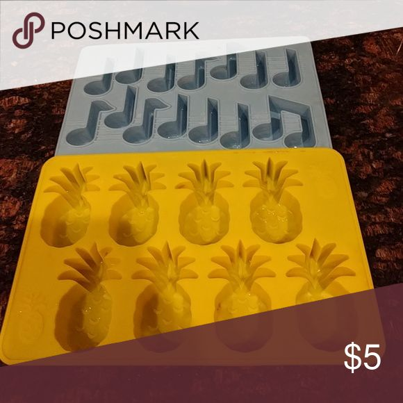 Pineapple Music Note Ice Cube Trays used.cute shapes.(one from Urban Outfitters, the other honestly can't remember) Urban Outfitters Other