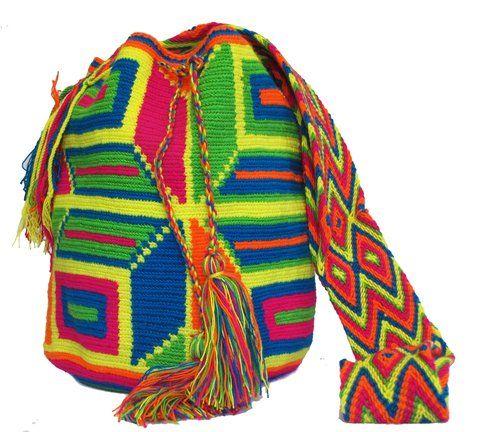 Mochila wayuu multi-color florida/ Floral Wayuu Bag - comprar online