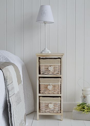 white bedroom furniture including bedside tables desks and storage our finishing touches make for a perfect bedroom a narrow bedside table