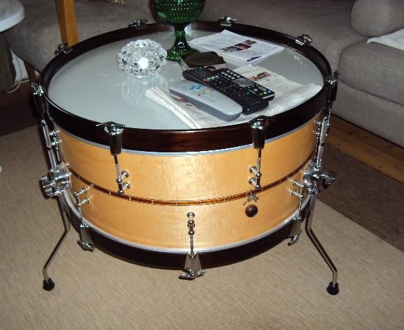 drum furniture. Drum Instrument Furniture Decor Table