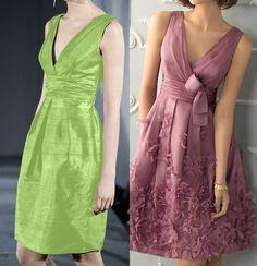 Patrón de un maravilloso Vestido clásico con pliegues. Tallas desde la 36 hasta la 56.