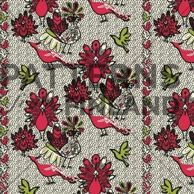 Peacock by Kahandi Design   #patternsfromfinland #kahandidesign #pattern #surfacedesign #finnishdesign