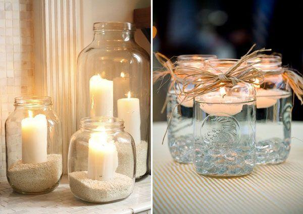 #8 Différentes façons d'utiliser vos bocaux en verre le jour de votre Mariage   Mariages & Turbulettes
