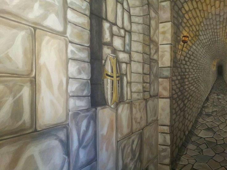 muro in finta pietra..