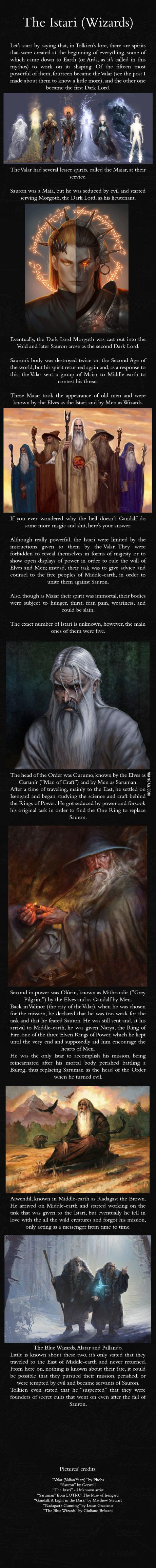 The Wizards of Middle-earth - J.R.R. Tolkien Mythology ::This is cool except for the language