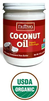 Nutiva Extra-Virgin Coconut Oil - the uses for this are limitless. It is a great anti-viral/bacterial. I use it while I am brushing my teeth to bust plaque and a litany of other things.