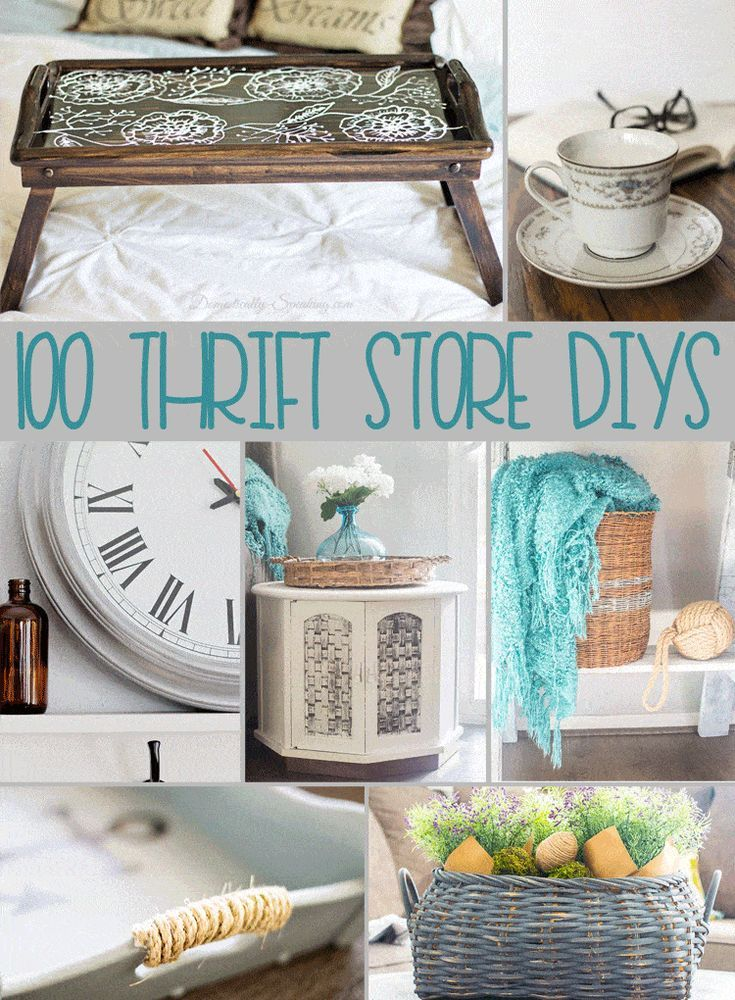 100 Thrift Store DIY Projects Thrift store diy projects