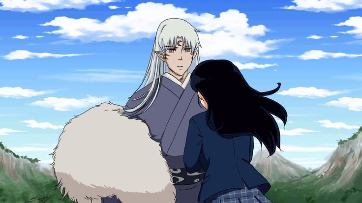 having some fun. Sesshoumaru hugging Kagome My first animation http://sayuri-watanabe.tumblr.com/