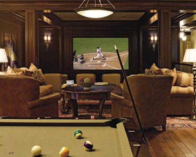 14 Cool Home Theater Decor Attics Basements Bonus Rooms Pinter