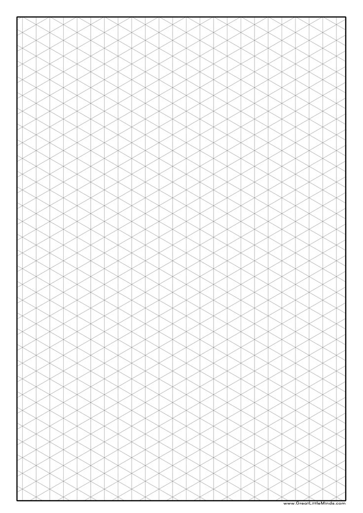 Graph paper isometric 2 480 3 508 pixels craft 3d drawing website