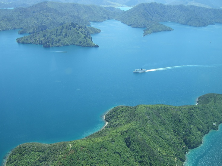 The stunning Marlborough Sounds, New  Zealand.