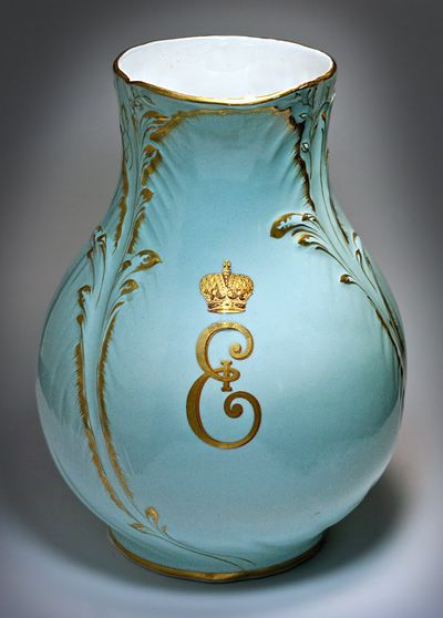 Tsarskoe Selo Palace Porcelain Water Jug in the Rococo style of the 18th C, Period of Tsar Nicholas II, 1894 – 1917