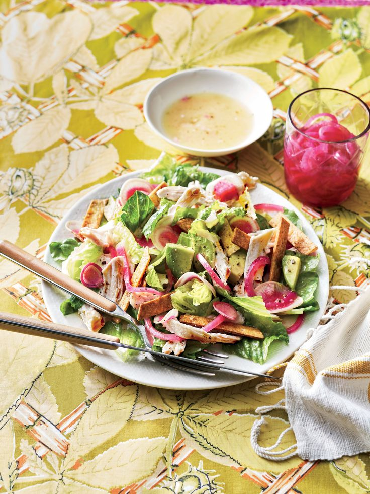 Southwestern Chopped Chicken Salad Recipe INCLUDING baked tortilla strips