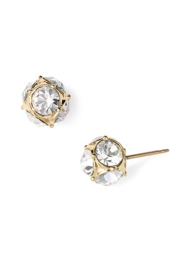 kate spade new york glass stone stud earrings available at #Nordstrom
