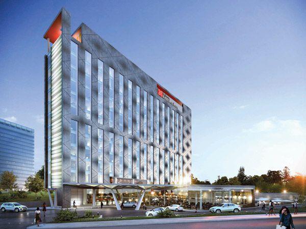Hilton garden inn tushino hotel design facade design for Design hotel douala