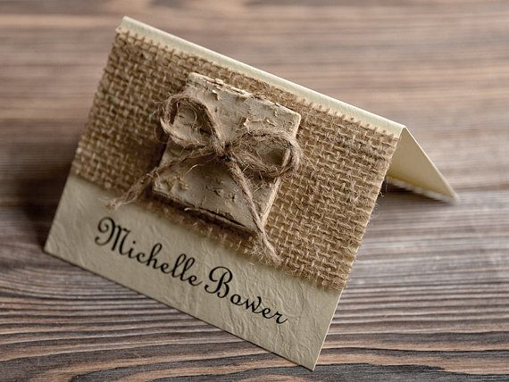 Place Cards Tented Place Cards Escort Card Name by DecorisWedding, $2.00