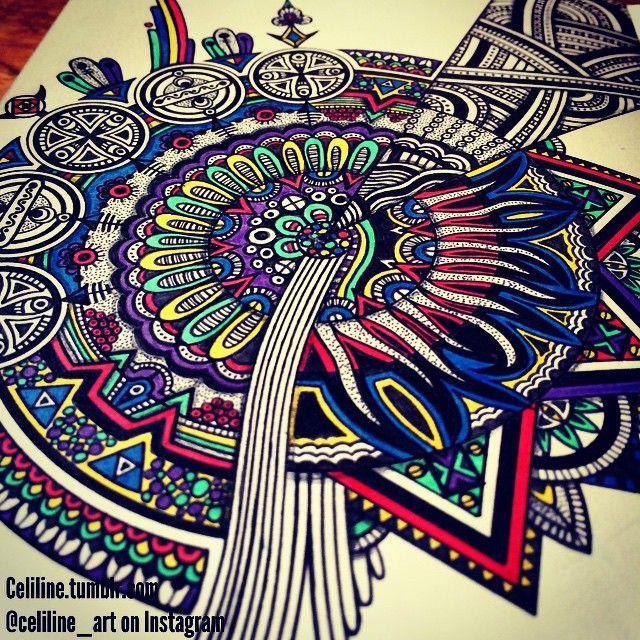 MESSY MIND - #zentangle #doodle #drawing #moleskine #illustration #sketchbook   #artwork#mandala #artpiece #sketching #sketches #notebook #zendoodle #creative #ink #doodling #artstag  #pattern #sketchpad  #pencil #doodleart #zenart #zendoodle #zentangleart #mandalaart #colors