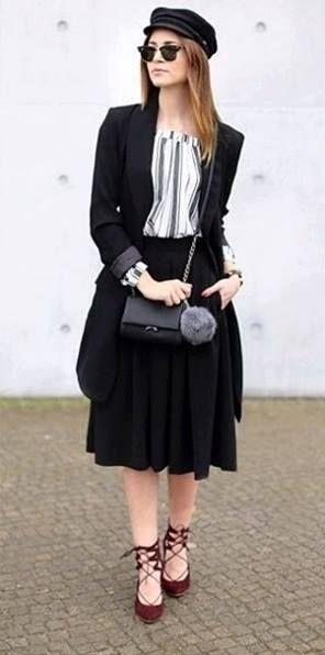 VERONA SHOES Black & White look - Tamaris Lace Ups www.verona-shoes.gr