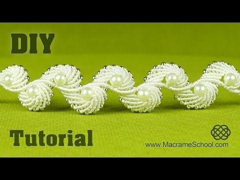 Tutorial: Como fazer frisado casamento gargantilha / pulseira com pérolas [EASY] - YouTube
