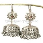 Old Tribal  Silver Sindhi Jhumka Earrings - 14 ga