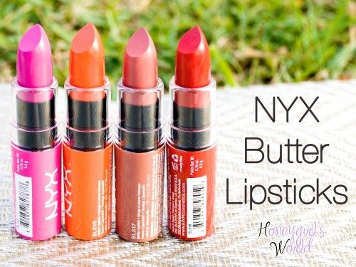 NYX Butter lipsticks Review, Swatches & photos - product reveal