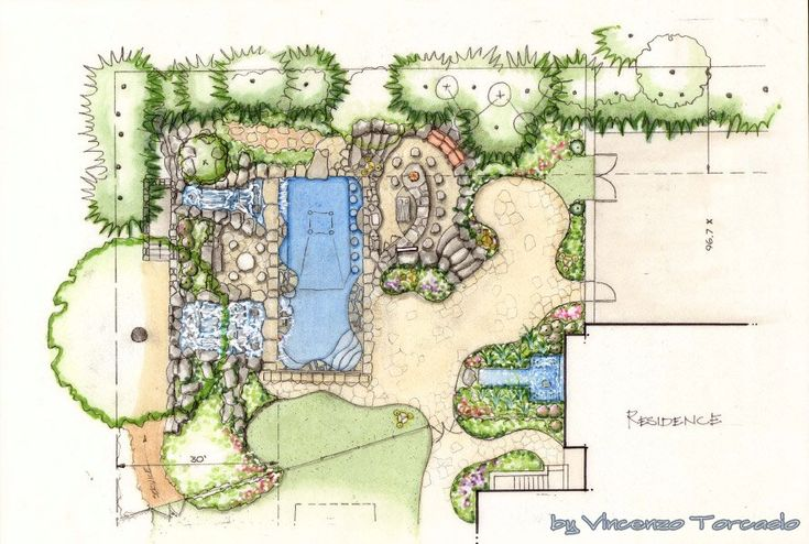Amazing ideas landscape architecture tree sketches for Landscape house plan