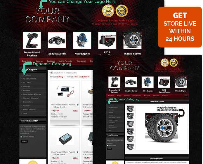 The Best Professional EBay Listing Templates For Car Auto Images - Free professional ebay templates