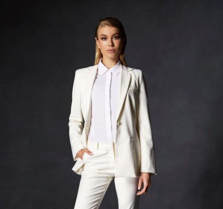 The perfect office interview attire for your dream job. Designer women's suits by The Aurum Collective.
