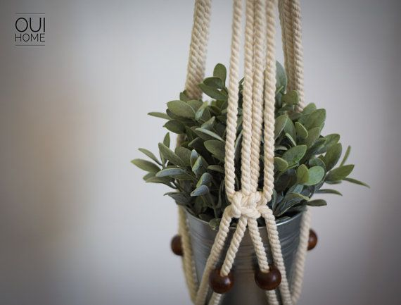 M s de 25 ideas incre bles sobre colgadores de plantas de macram en pinterest colgador de - Colgadores de macetas ...
