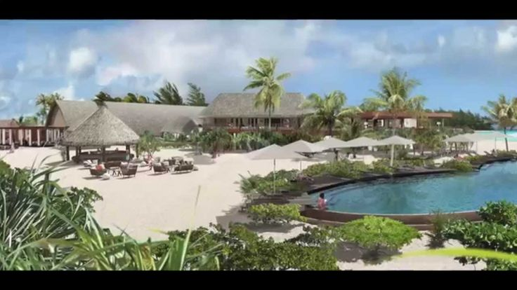 Animation architecture and landscape TAHITI 3D 2014