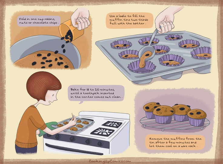 Vegan Pumpkin Muffins #recipecomic