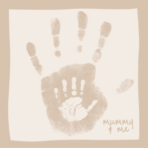 Mommy and me hand print keepsakes - Use the whole family this year!