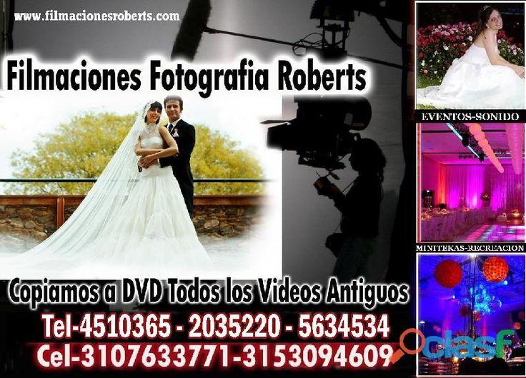 FOTOGRAFIA FILMACIONES TRANSFER COPIAS A DVD VIDEOS ANTIGUOS