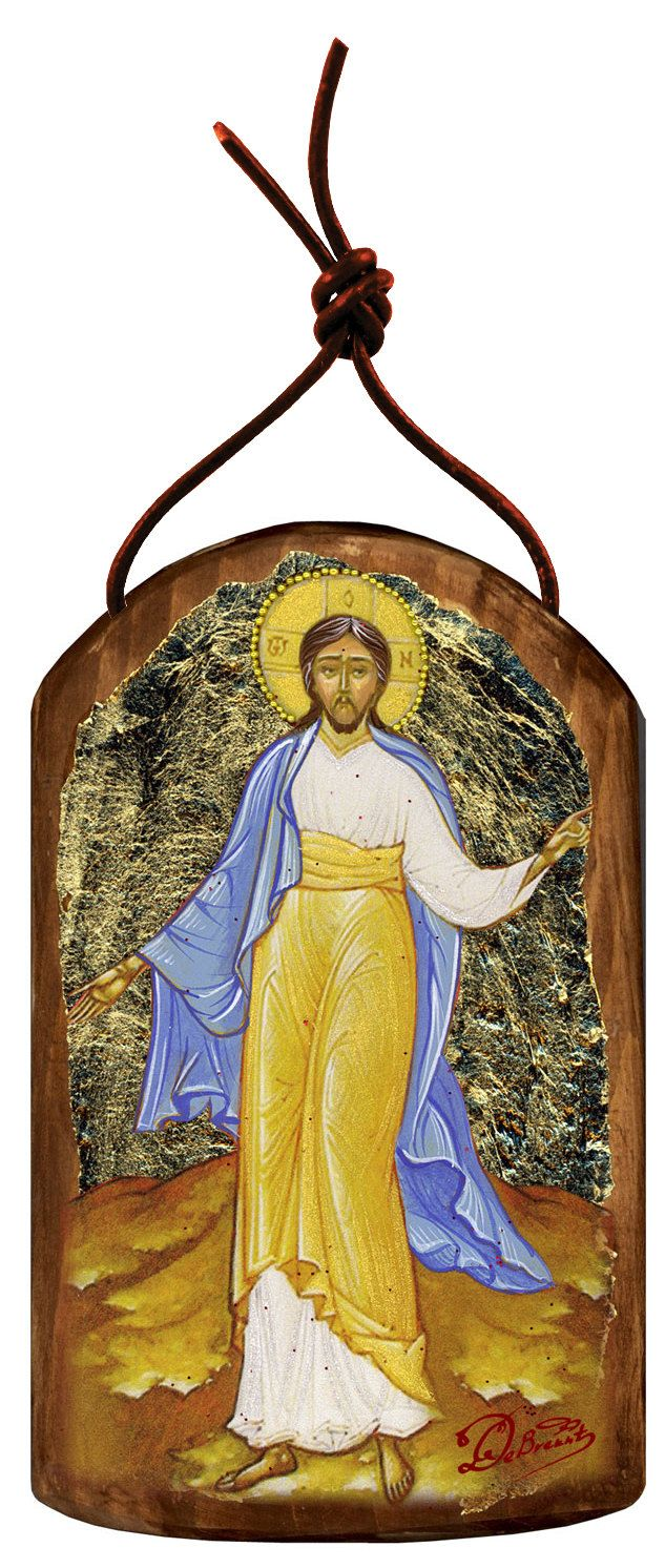 """Resurrection of Jesus Crist 4.75""""h Museum Icon Wooden Ornament, Handcrafted Sacred Art, Wall Hanging Plaque Inspirational Decor 87051 by Iconartbyhand on Etsy #resurrection # resurrectionsunday #eastersunday #easter #eatergift #eastergiftbasket #giftbasket #gift #Saint #Museum #Icon #Iconic #Wooden #Wood #Ornament #Sacred #Art #Wall #Hanging #Plaque #Inspirational #Decor #Decoration #HomeDoecor #homedecoration #decoration #holy #bible #biblical #priest #church #gift #ornament #wallhanging…"""