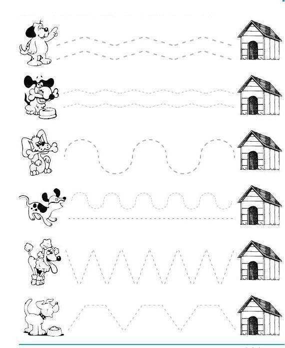 dog trace worksheet crafts and worksheets for preschooltoddler and kindergarten - Toddlers Worksheets Free Printables