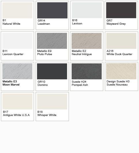 Dulux Metallic Paint Colour Chart