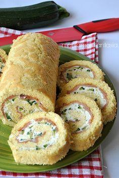 Rotolo salato con salmone, ricotta e zucchine   ricette ricotta