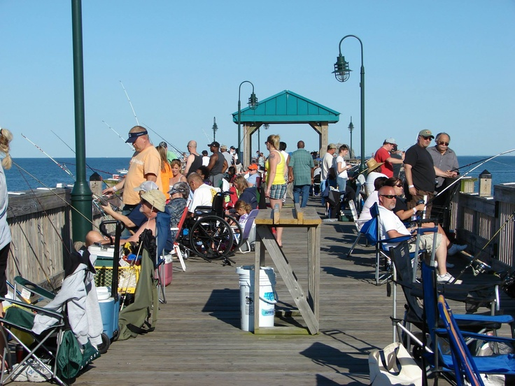 Buckroe beach fishing pier hampton va pinterest for Va beach fishing pier