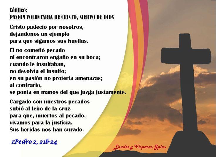 II #VÍSPERAS (Oración de la tarde) #LiturgiaDeLasHoras #LectioDivina 12 Mzo Domingo I T.Cuaresma http://www.liturgiadelashoras.com.ar/sync/2017/mar/12/visperas.htm Dios mío, ven... Himno: OH BONDADOSO CREADOR Salmo 109, 1-5.7 Ant 2. Adoramos a un sólo Dios, que hizo el cielo y la tierra Salmo 113 B - HIMNO AL DIOS VERDADERO Cántico: PASIÓN VOLUNTARIA DE CRISTO, SIERVO DE DIOS 1Pe 2, 21b-24 Cristo padeció... 1Co 9, 24-25 RESPONSORIO ALEGRÍA DEL ALMA EN EL SEÑOR Lc 1,46-55 PRECES Padre…