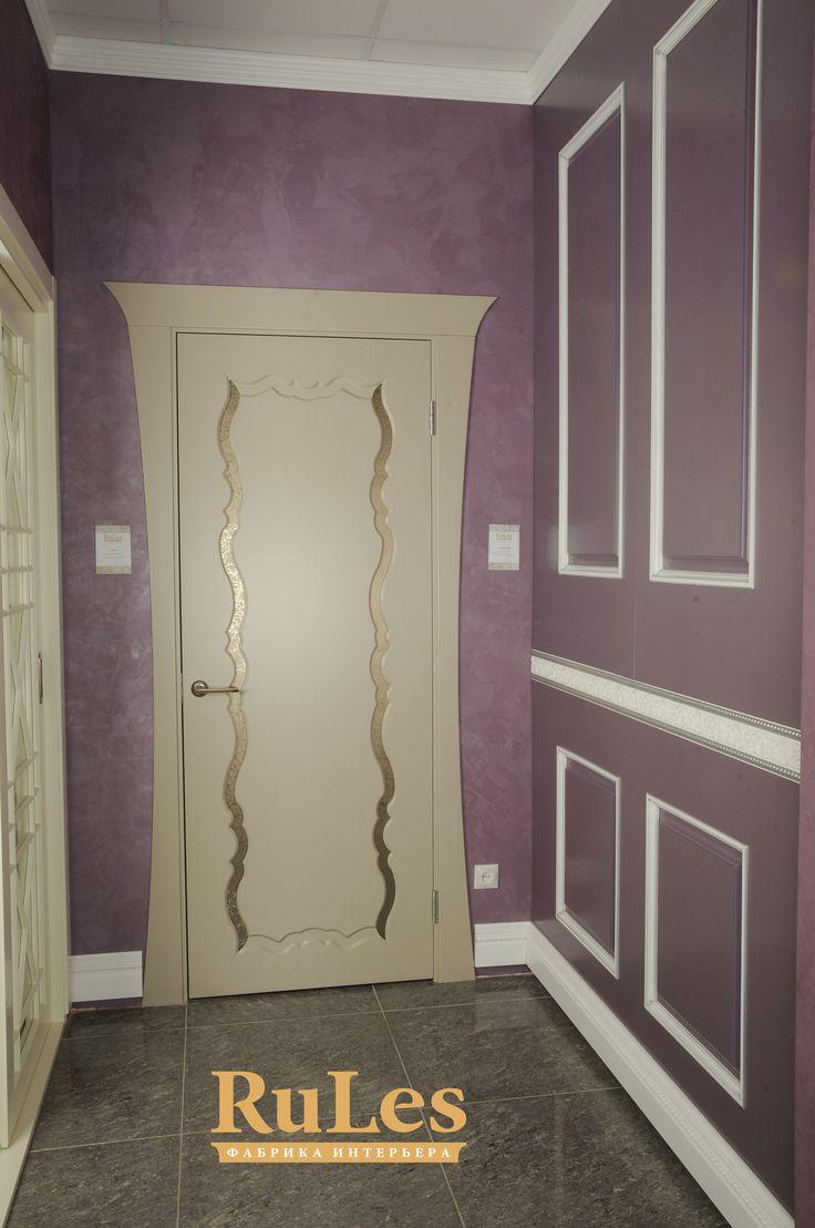 """Стеновые панели в сочетании с дверью """"Ронда"""" от RuLes. #стеновыепанели #рулес #двери #интерьер #дизайн"""