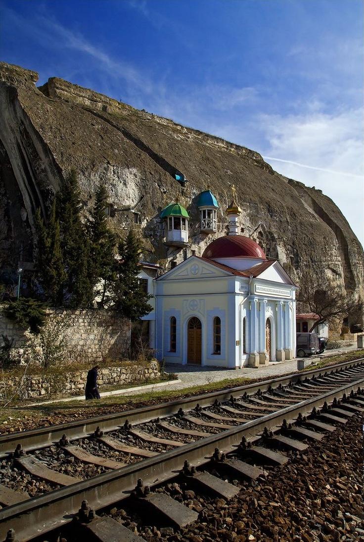 Inkerman Monastery of St. Clement sea port of Sevastopol Russia.