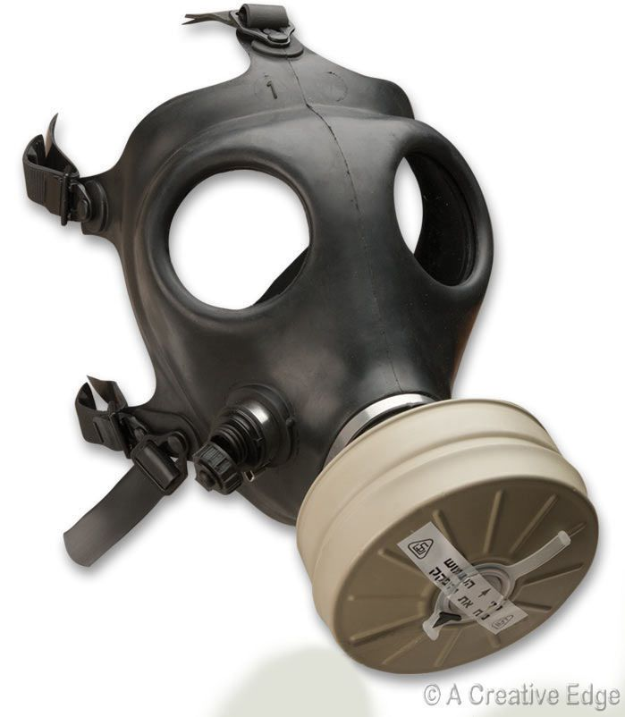 Israeli Gas Mask New Black Military NBC w/Standard NATO 40 mm Filter- Never Worn