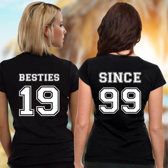 Best Friends Women Shirts Besties Since Besties BFFS by VivaMake