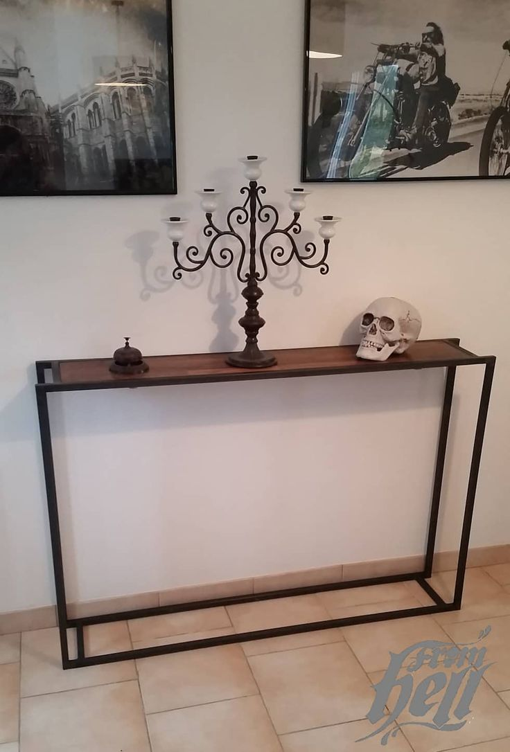 les 25 meilleures id es de la cat gorie console bois metal. Black Bedroom Furniture Sets. Home Design Ideas
