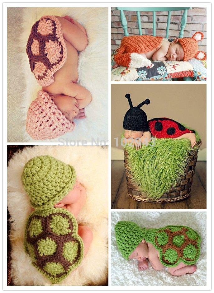 Младенцы одежда младенцы фотосессия вязка крючком ниндзя черепаха шапочка вязка крючком младенцы наряд улитка костюм новорожденные младенцы фото реквизит